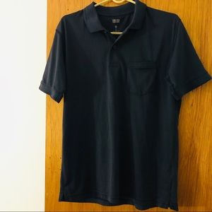 Uniqlo Men's Dry Polo Shirt Size M Navy Blue